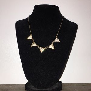 Forever 21 gold triangle necklace
